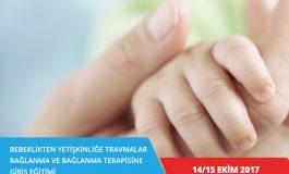 Bebeklikten Yetişkinliğe Travmalar, Bağlanma ve Bağlanma Terapisine Giriş Eğitimi – BURSA (14-15 Ekim 2017)