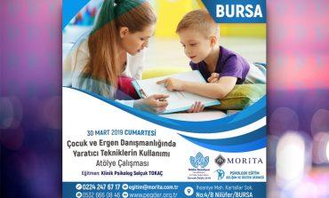 Çocuk ve Ergen Danışmanlığında Yaratıcı Tekniklerin Kullanımı Atölye Çalışması - 30 Mart 2019 (BURSA)