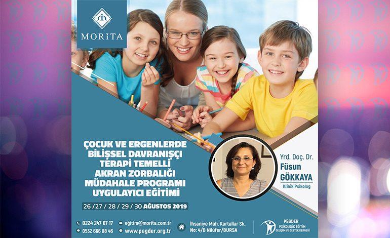 Çocuk ve Ergenlerde BDT Temelli Akran Zorbalığı Müdahale Programı Uygulayıcı Eğitimi – 26/30 Ağustos 2019 (BURSA)