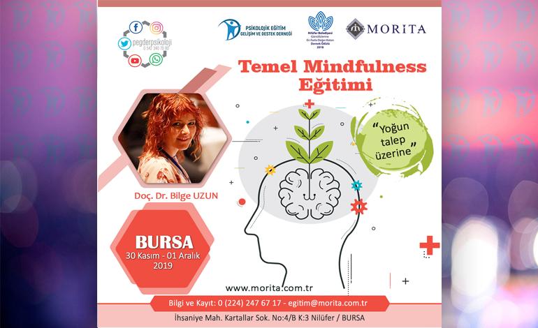Temel Mindfulness Eğitimi – 30 Kasım/01 Aralık 2019 (BURSA)
