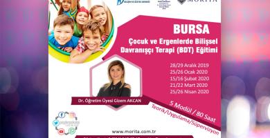 Çocuk ve Ergenlerde Bilişsel Davranışçı Terapi Eğitimi - Aralık 2019 /Nisan 2020 (BURSA)