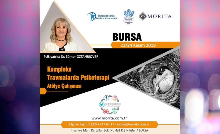 Kompleks Travmalarda Psikoterapi Atölye Çalışması – 23/24 Kasım 2019 (BURSA)