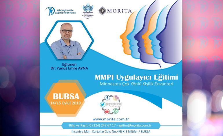 MMPI Uygulayıcı Eğitimi – 14/15 Eylül 2019 (BURSA)